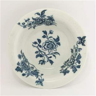 A rare Worcester blue and white Patty Pan, c.1760-1770,