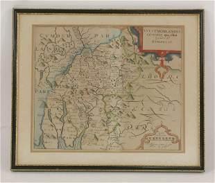 Four hand coloured maps, comprising: 'Dorcestria',