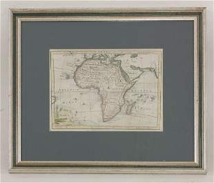 MAPS: 1. Map of Africa. Hand coloured; nd, c.1762.