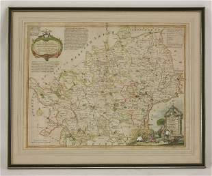 Thomas Kitchin, A New Improved Map of Hartfordshire,