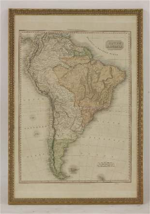 South America, From Pinkerton's Modern Atlas, Cadell &