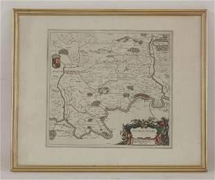 Joan Blaeu, Middle-Sexia, c.1645 54 x 62cm