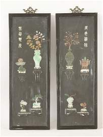 A pair of stone Appliqué Panels	 early 20th century