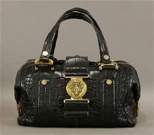 A Gucci crocodile 'Aviatrix Boston' bag