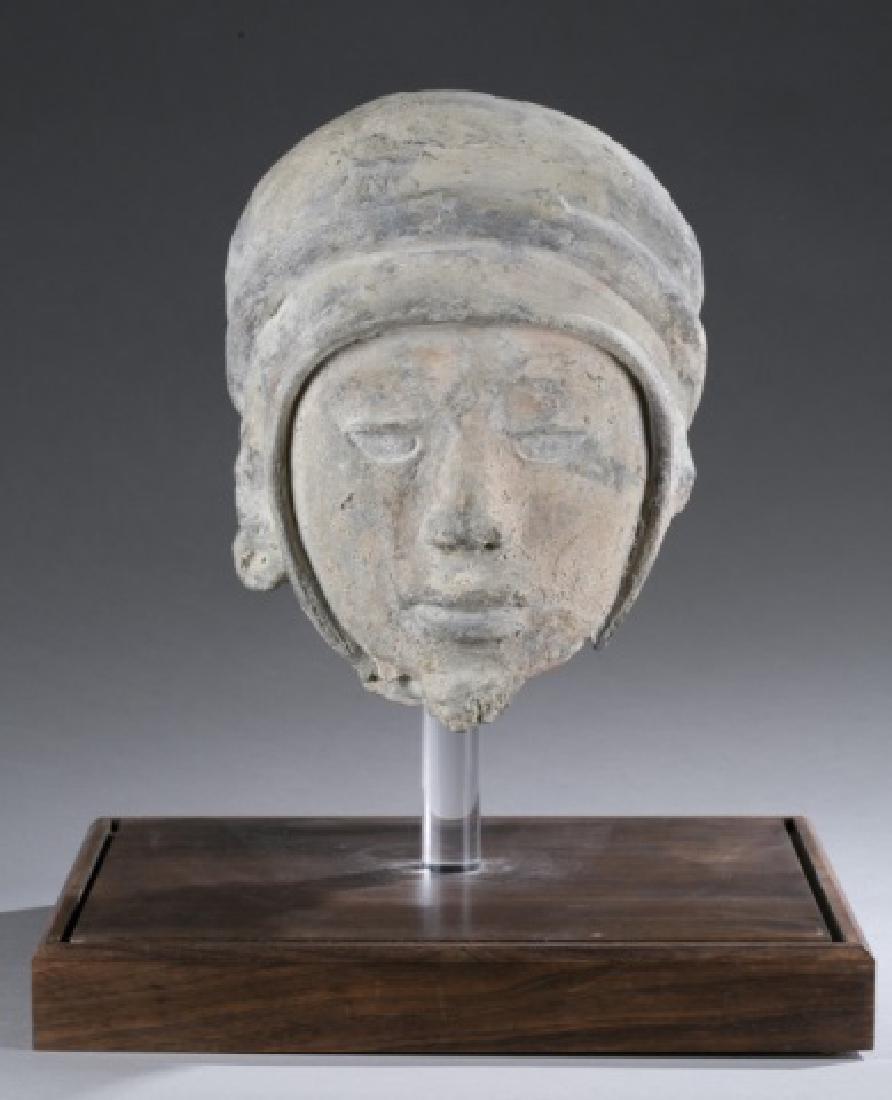 Polychrome and pottery Vera Cruz head.