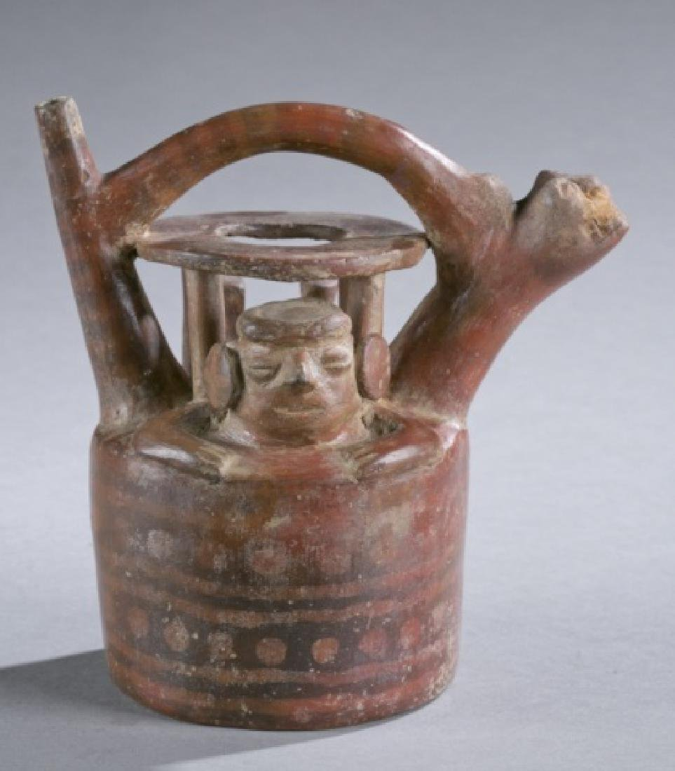 Requay pottery vessel with figure.