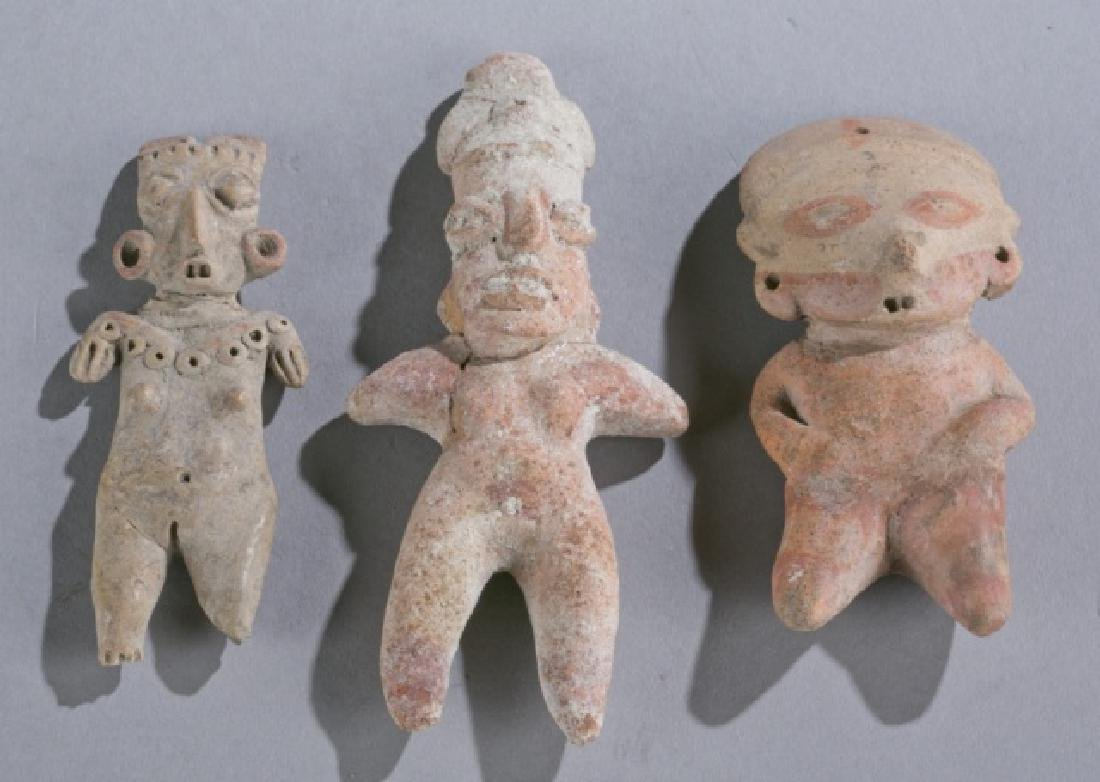 Group of 3 Pre-Classic Mexican figures.