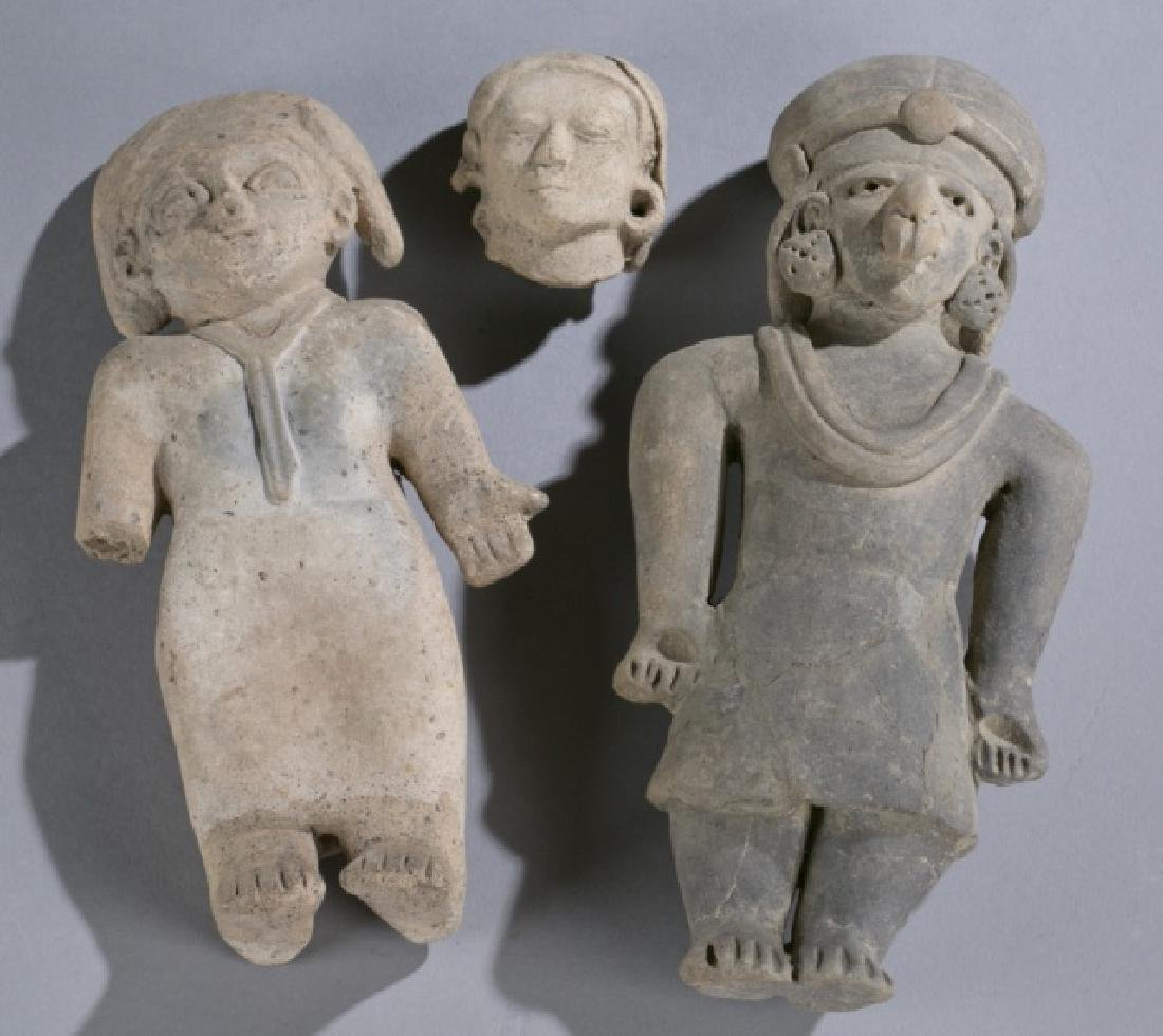 Group of 3 Pre-Columbian pottery figures.