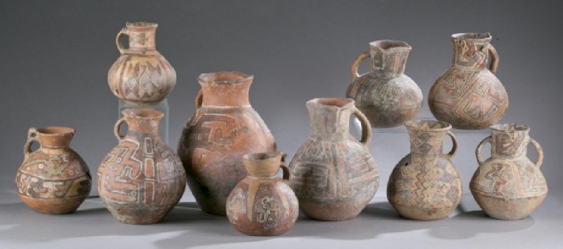 Group of 10 Pre-Columbian vessels.