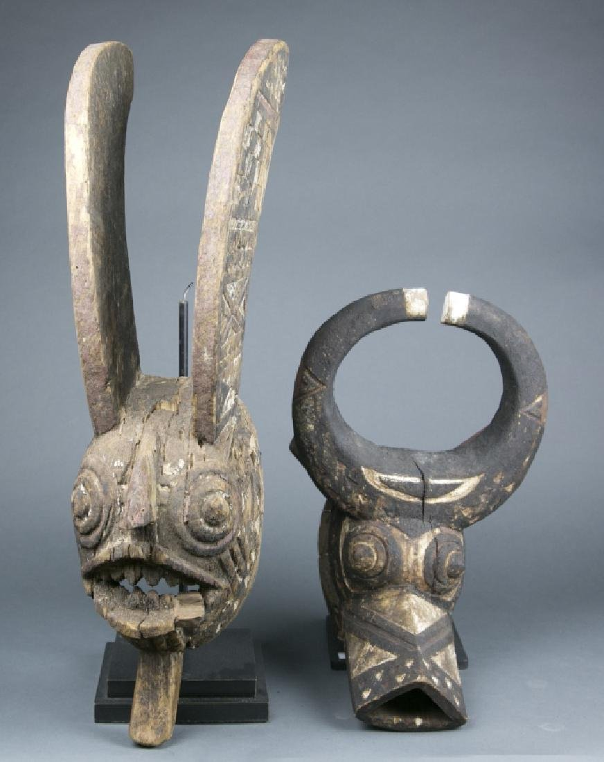 Group of two African masks.