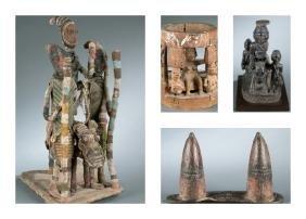 4 Nigerian Yoruba style figural objects. 20th cen