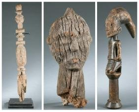 3 West African objects. 20th century.