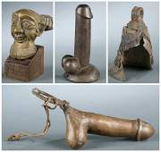 4 West African objects. 20th century.