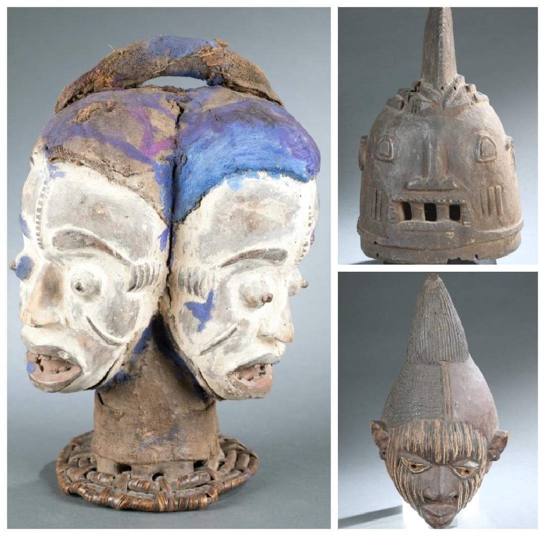 3 Nigerian style objects. 20th century.