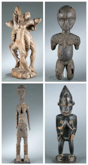 4 West African figures. 20th century.