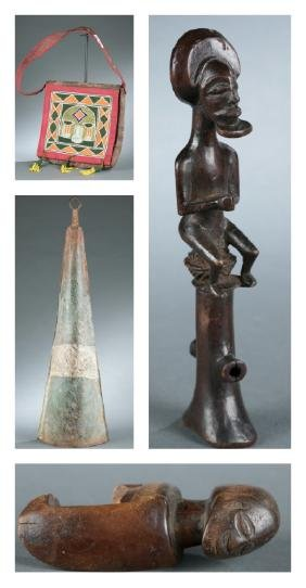 4 African objects, 20th century.