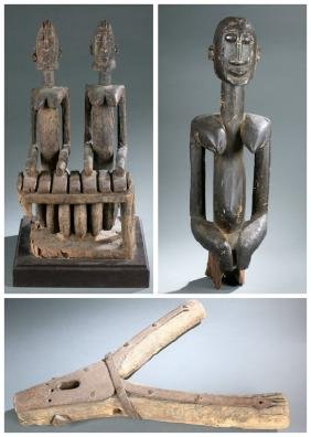 3 Dogon style sculptures. 20th century.
