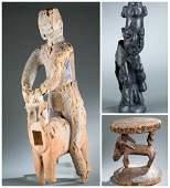 3 Yoruba sculptures. 20th century.