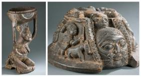 2  Yoruba sculptures. 20th century.