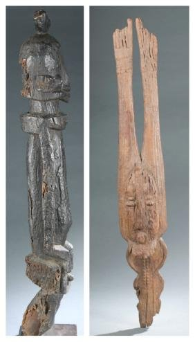 2 Dogon style sculptures. 20th century.