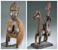 Bamana style equestrian & Baga style Nimba mask.