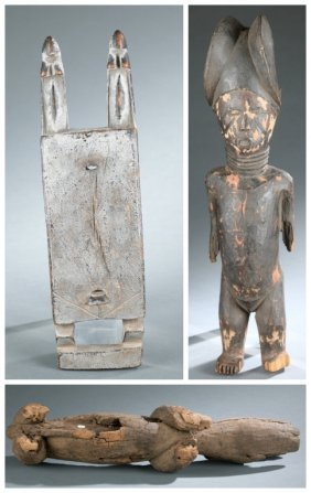 3 West African style objects