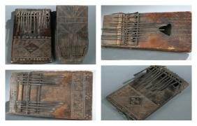 5 African thumb pianos. 20th century.