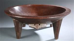 Fiji style kava bowl. 20th century.