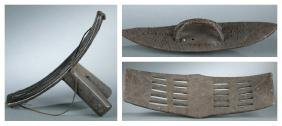 3 Congo wooden objects. 20th century.