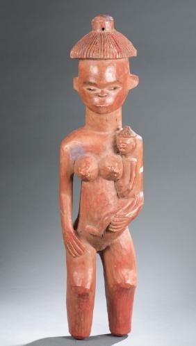 Pende maternity figure. 20th century.
