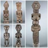 5 Congo style figures. 20th century.