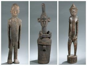 3 Large West African style figures. 20th century.