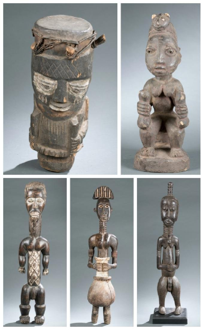 Five West African style figures. 20th century.
