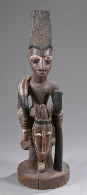 Yoruba equestrian figure, Pre-1950.
