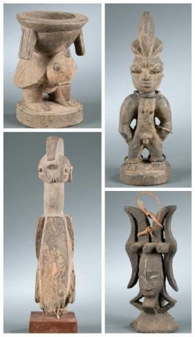4 Nigerian works of art. 20th century.