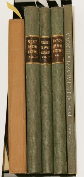 1012: [ARCHITECTURE]. 3 Titles. 4to/Folio.