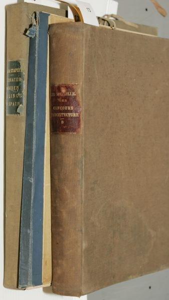1013: [ARCHITECTURE]. 3 Titles. Folio.