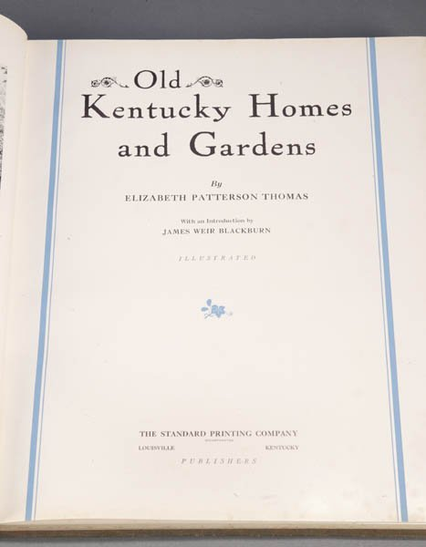1016: Old Kentucky Homes And Gardens.