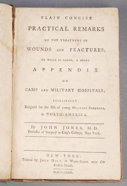 1411: [MEDICINE]. John Jones. [Wounds & Fractures]