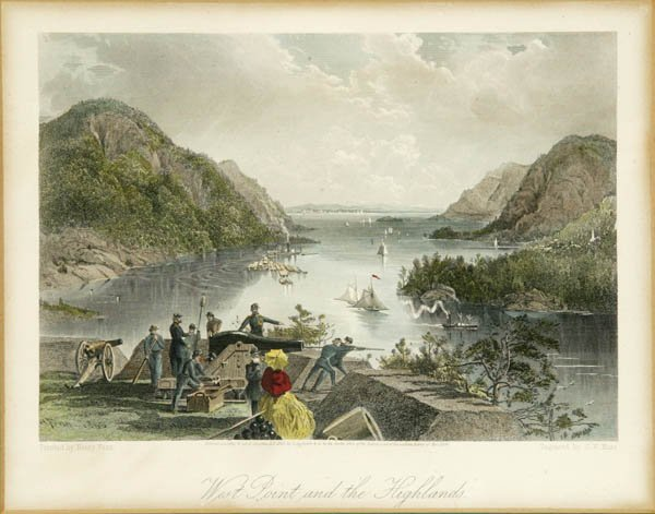 5: [American Scenery]. 4 hand-colored engravings