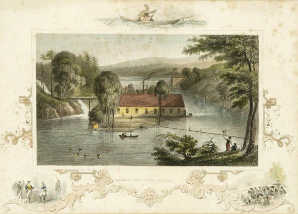 6: [American Scenery]. 5 hand-colored engravings