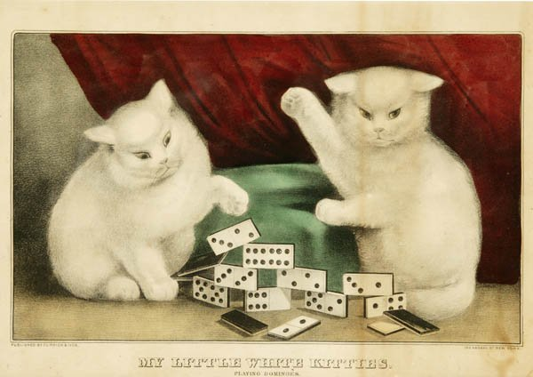 14: Currier & Ives. My Little White Kitties