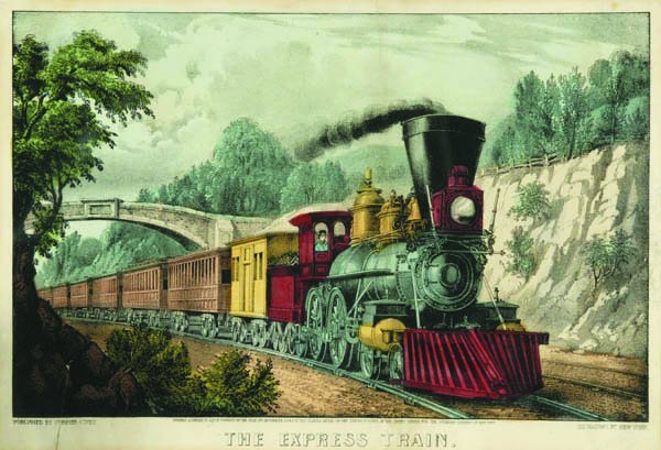 19: Currier & Ives. The Express Train.