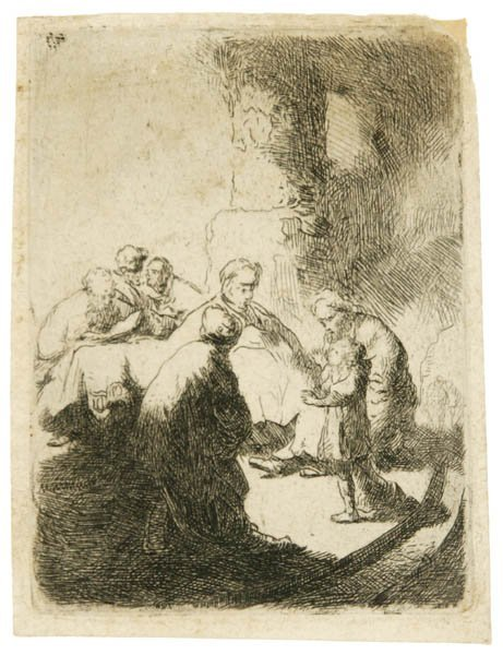 49: Rembrandt. Christ Disputing With The Doctors.