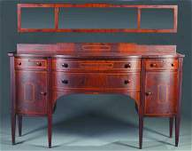 319 Federal style mahogany sideboard with mirror