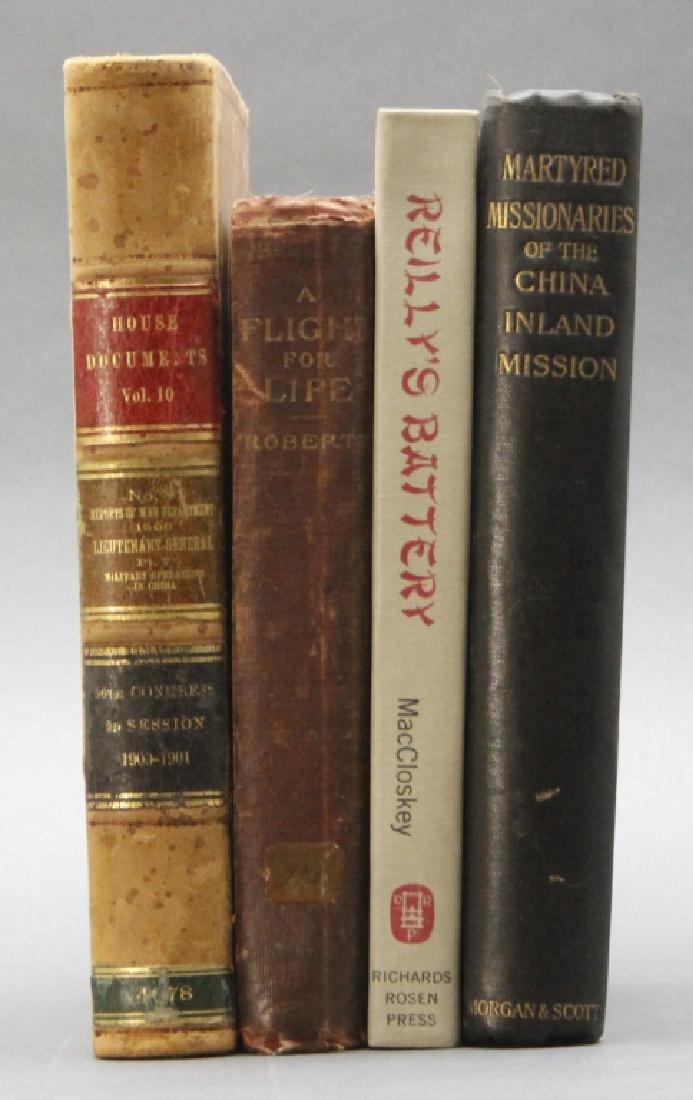 4 Books: FLIGHT FOR LIFE, REILLY'S BATTERY...