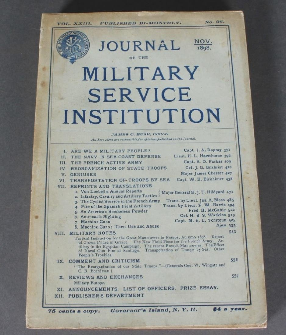 JOURNAL OF THE MILITARY... 47 issues. 1889-1901.