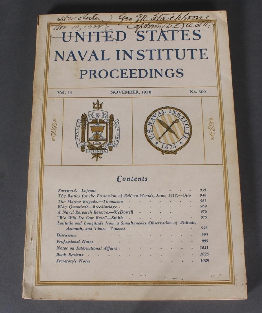 UNITED STATES NAVAL INSTITUTE... 30 issues