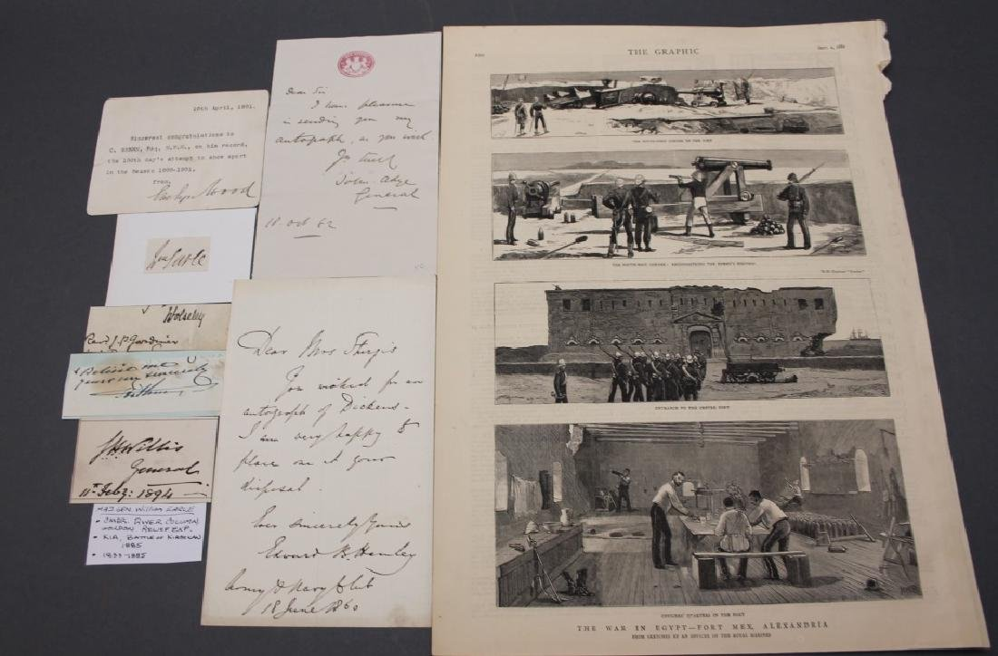 7 signed items: British army officers, Egypt.