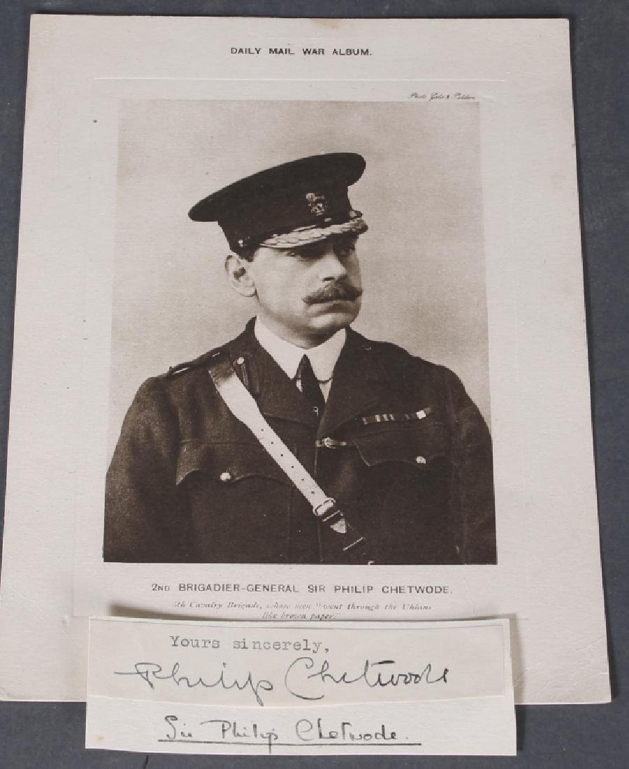 8 signed items: British military, incl A. Gaselee.